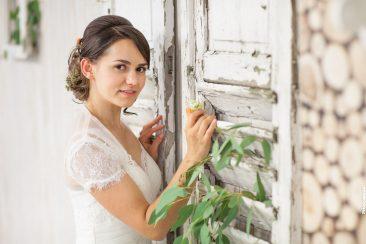 Braut am Fenster