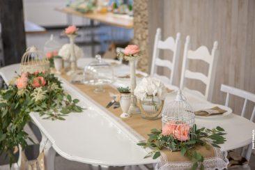 Vintage Brauttisch