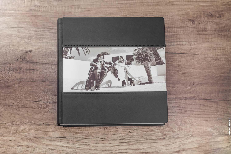 Fotoalbum Cover Aluminiumeinlage Ledereinband Leder