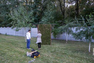 Aufbau Hochzeitsthron