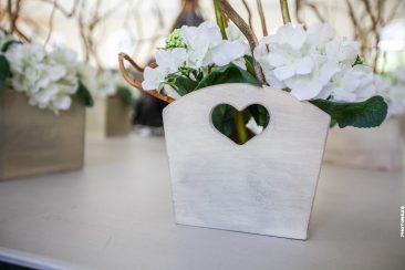 Blumenkiste Holz mit Herz