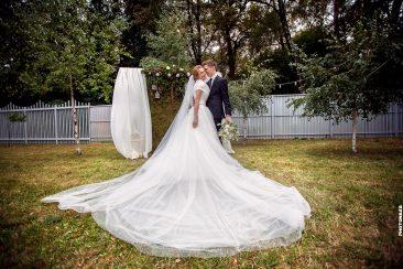Brautpaar-Brautkleid-Fotowand
