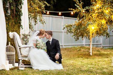 Brautpaar Fotowand romantisch