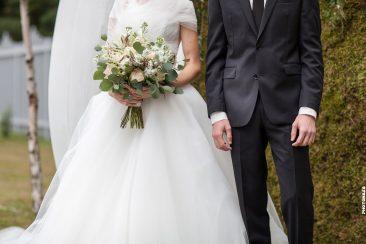 Brautstrauß Braut und Bräutigam Detailaufnahme