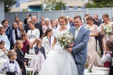 Einmarsch Braut und Vater