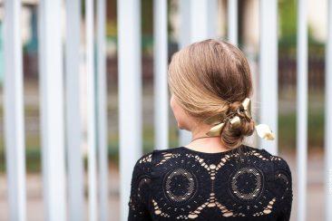 Haarschmuck Gold Blätter