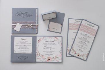 elegante Pocketfold-Einladungskarte