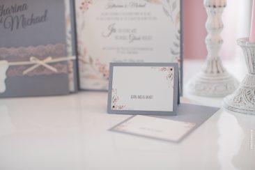 Namenskärtchen-elegante Pocketfold-Einladungskarte