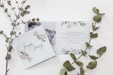 "Einladungskarte ""greenery"""