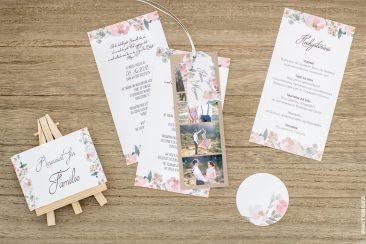 """Hochzeitspapeterie """"Pink-Flower"""""""